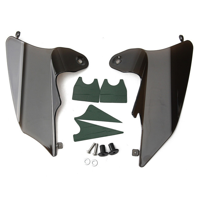 Motorcycle Reflective Saddle Shield Air Heat Deflector For Harley 1997-2007 FLHT FLTR Smoke PVC Plastic Not Easy Crack
