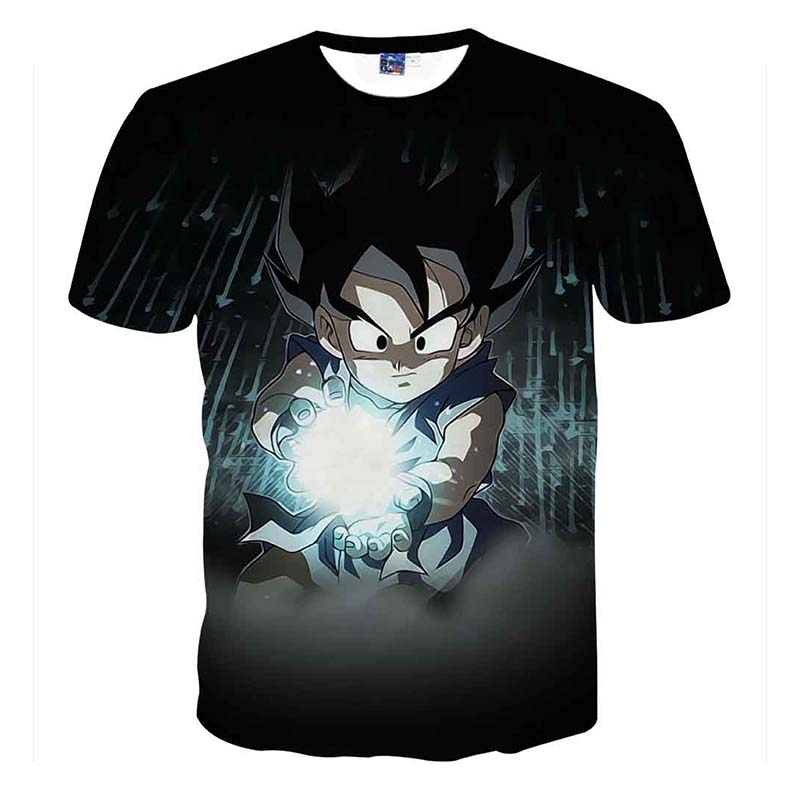 Dragon Ball Goku T-shirts 3D Printing Super Saiyan  T Shirt For Men