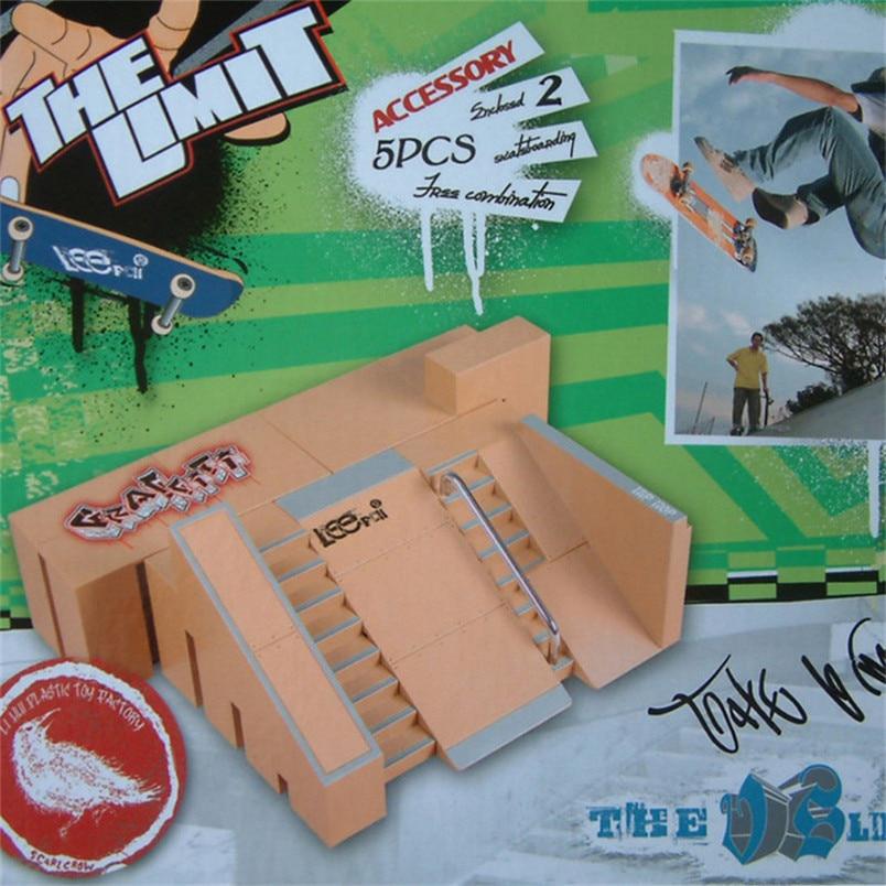 Abbyfrank 1 Pcs Plastic Novelty Finger Skatepark Fingerboard Toys For Children Adult Educational Intelligent Toy Brinquedos