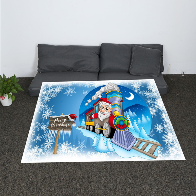 Nordic Soft Digital Print Blanket Train Santa Coral Plaid for Sofa Air Throw Travel Manta Soft Blanket in Blankets from Home Garden