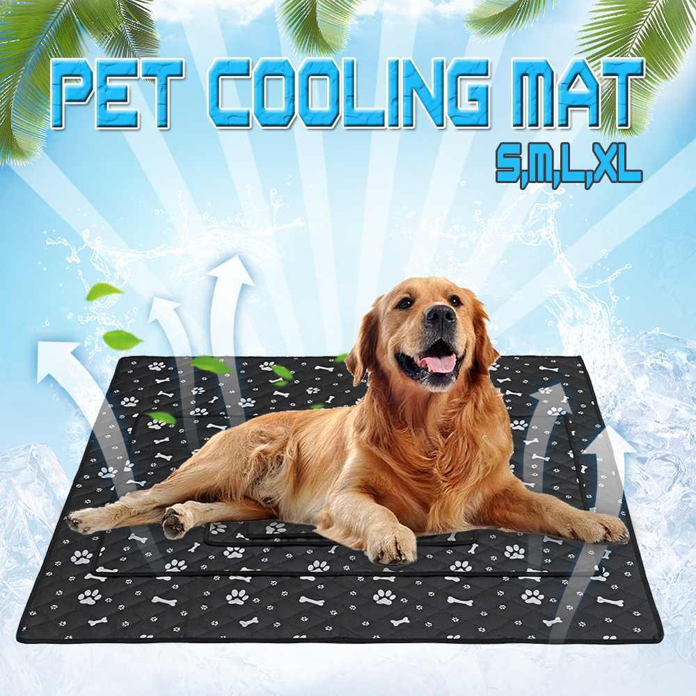 夏ペット冷却マット毛布アイスペット犬クール繊維ベッドマット犬猫用ソファポータブルツアーキャンプ睡眠ペット Accessorie