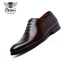DESAI/мужские деловые модельные туфли, удобные туфли из коровьей кожи, классические мужские туфли-оксфорды в британском стиле ретро