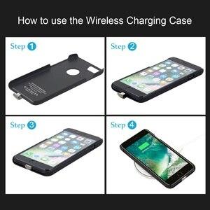 Image 4 - צ י מטען אלחוטי מקלט מקרה עבור iPhone 7 6 6s מקרה טלפון נייד אלחוטי טעינת Pad Dock כיסוי עבור iPhone 7 בתוספת 6 6s 8