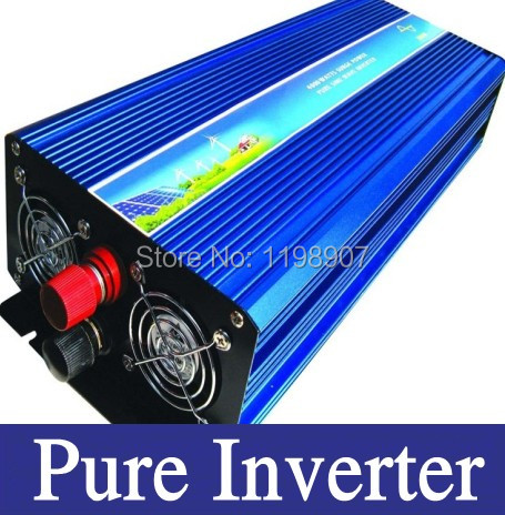 Photovoltaic inverter 4000W Pure sine wave Inverter dc to ac power inverter 48V to 230V 50HZ off inverter  free shipping