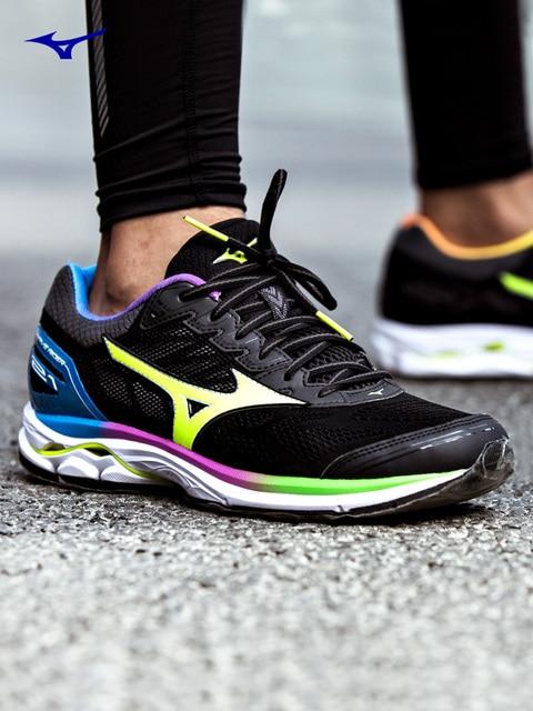 Mizuno Wave Rider 21 Osaka Running Shoes For Men Women Breathable Cushion  Sport Shoes Comfort Jogging Marathon Sneakers e67c57582a