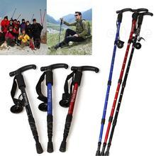 Cane Pole Anti-Shock Hiking Walking Stick Trekking Crutches Adjustable Useful trekking pole-W128