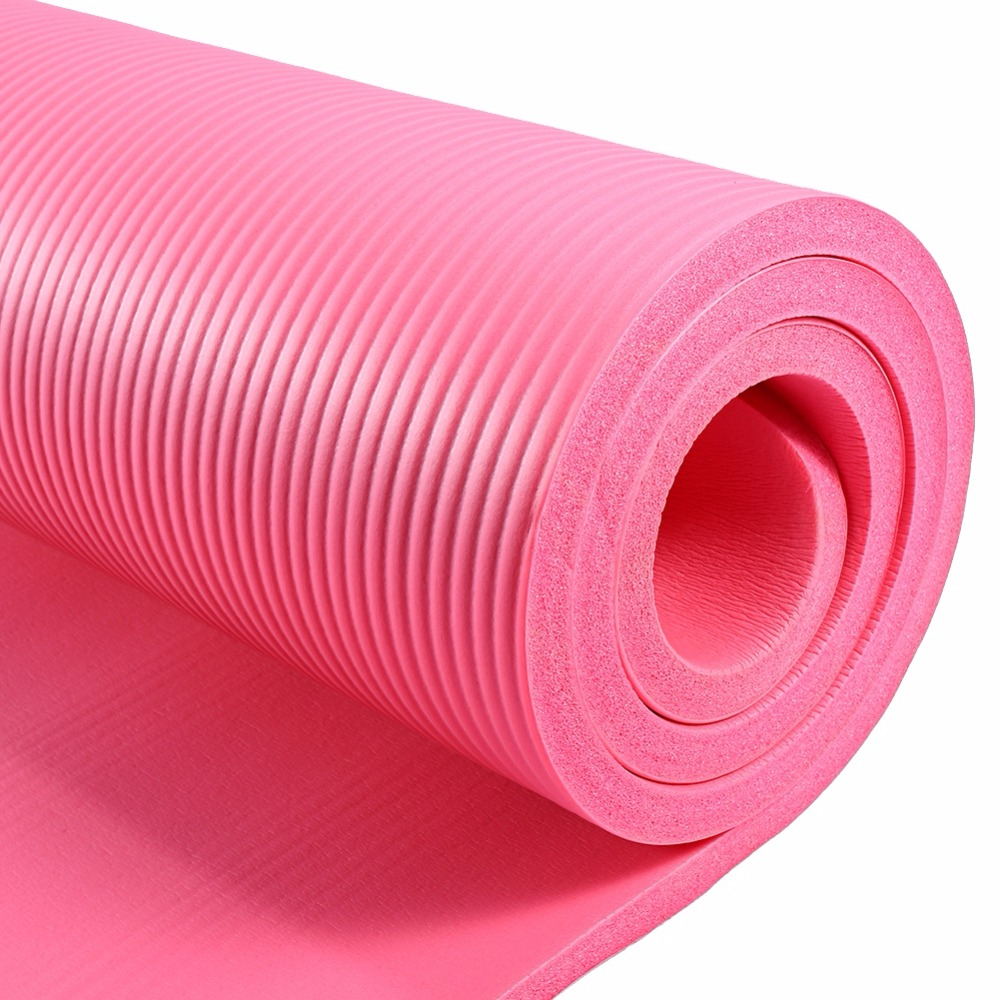 15mm Pink Non-slip Yoga Mat NBR Thicken Soft Yoga Pad Gym