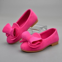 ULKNN 2018 spring new Butterfly-knot girls shoes Kids Flat w
