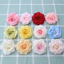 50 יח\חבילה זול משי רוז ראשי נדל מגע מלאכותי פרח כלה זר Rrist אביזרי חתונה Marriag רכב דקור