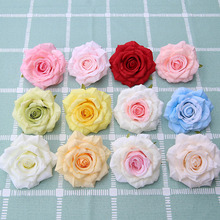 50pcs/lot Cheap Silk Rose Heads Real Touch Artificial Flower for Bridal Bouquet Rrist Accessories Wedding Marriag Car Decor