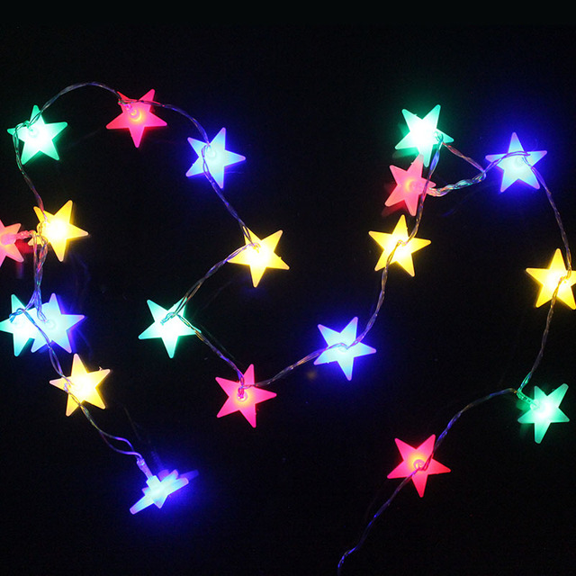 20leds Star Led Light String Battery Ed Multicolor Christmas Fairy Lights Festival Home Luces Decorativas