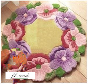 Needlework stair carpet mats Unfinished rug Latch Hook Rug Kit Floor Mat DIY Unfinished classic flower 50*50 cm
