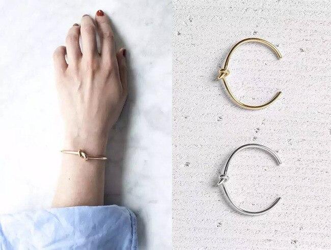 Західний стиль модного вузла золотий - Модні прикраси