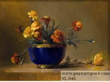 Free shipping 100% handpainted realist still life flowers decor oil painting on canvas top quality
