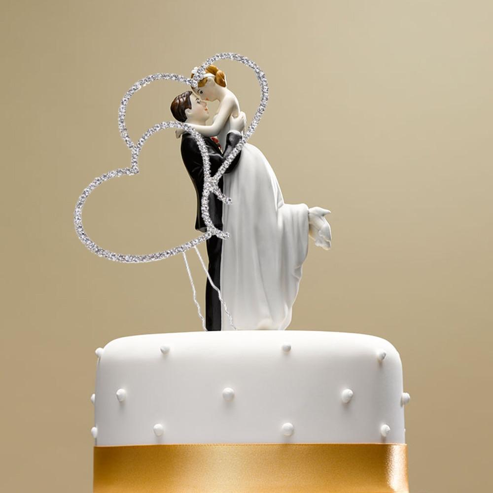 Romantic Wedding Cake Topper Bling bling Rhinestone Party Supplies ...