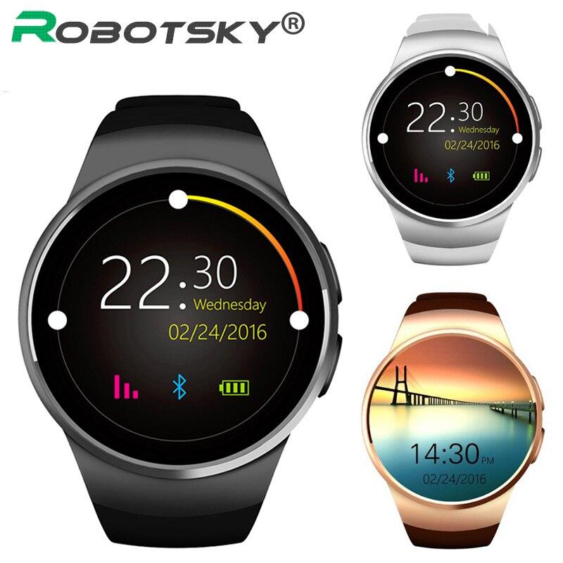 KW18 montre intelligente moniteur de fréquence cardiaque carte SIM Support synchronisation appel Messager Bluetooth Smartwatch pour IOS Android