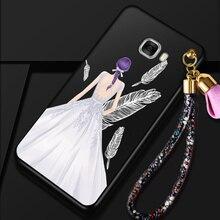 Pour Samsung Galaxy C9 Pro cas De Mariage De Mode robe fille Motif Silicone de couverture arrière pour Samsung Galaxy C7 Pro cas