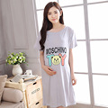 2016 New Cotton Cartoon Maternity Sleepwear Pregnant Women Pajamas Nursing Breast Feeding Nightgown Clothes For short Sleeve