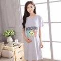 2016 Nova Algodão Dos Desenhos Animados Sleepwear Maternidade Mulheres Grávidas Pijamas Enfermagem Amamentação Roupas Camisola De Manga curta