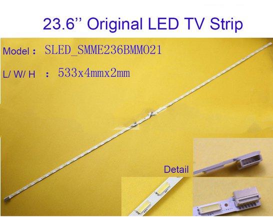 2pcs X Original 23.6 Inch Aluminum Plate LED Strips TV Panel Backlight Lamps SMME236BMM021 533mm 6pin Input
