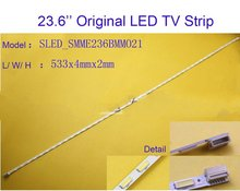 2pcs x Original 23.6 inch Aluminum Plate LED Strips TV Panel Backlight Lamps SMME236BMM021 533mm 6pin Input