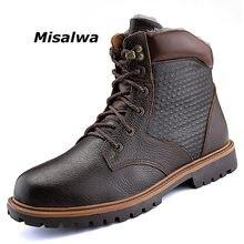 afcfc488c Misalwa Biqueira de Aço Botas De Trabalho dos homens Sapatos De Couro Homens  Multifunções Resistente À