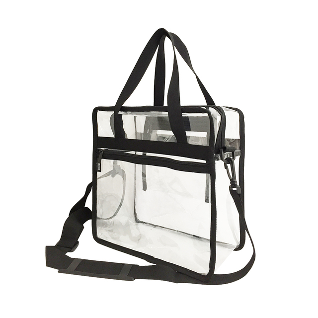 Custom Nfl Stadium Roved Pvc Bag Transpa Clear Plastic Make Up Tote