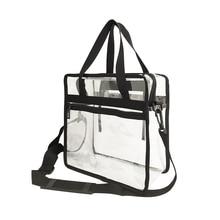 Custom NFL stadium approved PVC bag Transparent Clear PVC Plastic Make up Tote Bag