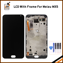 For Meizu MX5 LCD Display Touch Screen With frame LCD Assembly Repair Parts 5.5 Inch Replacement Mobile Accessories+Tools