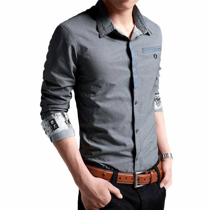 Korean Clothes Men Shirt Long Sleeve Streetwear Beach Summer Shirt Casual Slim Fit High Quality Hawaiian Mens Dress Male Shirts 3