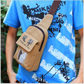 2016 New free shipping fashion chest bag Canvas waist pack Travel Sport belt bag Phone money pouch with Cartoon pattern