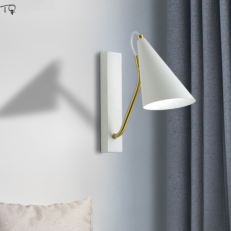 Copper Led Nordic Wall Lamp balck Living Room Dining Room Bedroom Modern Creative Personality Decoration Lamp Design Luminaire in LED Indoor Wall Lamps from Lights Lighting