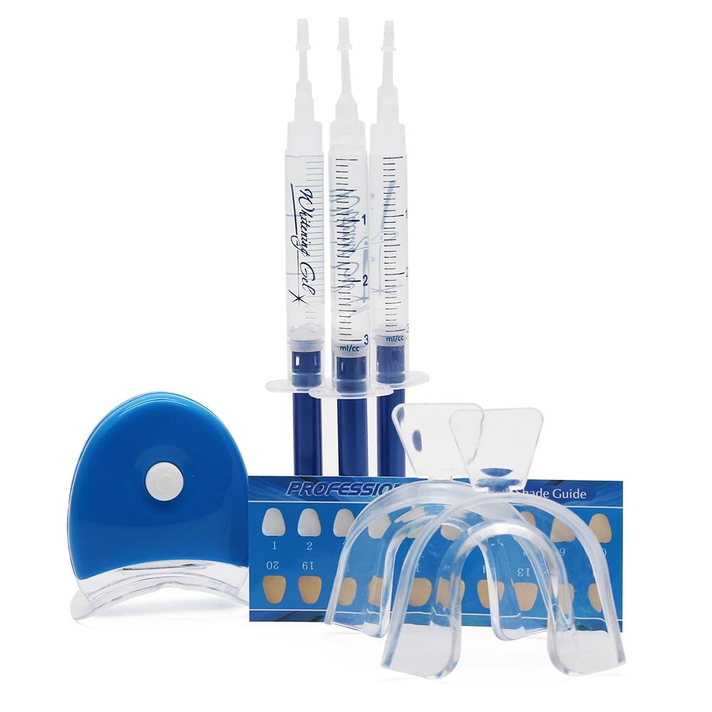 Genkent 3D White Teeth Whitening Gels Strong Home Teeth Whitener Kit Tooth Bleaching LED Laser Trays Dental Gel Light