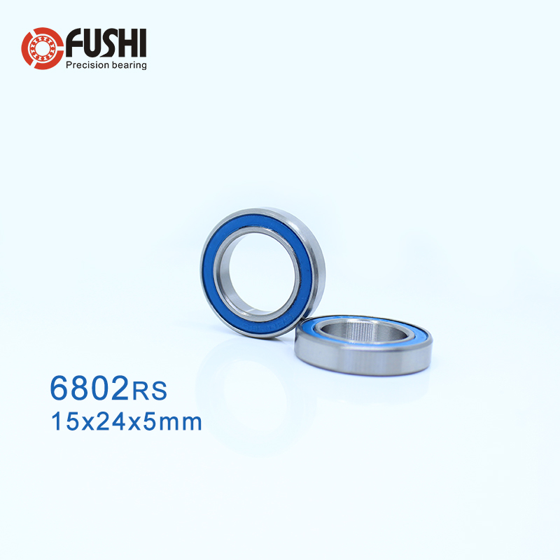 1 PC 6802 Hybrid Ceramic Bearing 15x24x5mm ABEC-1 6802RS Si3N4 Ball Bearings