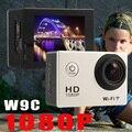 Full HD 1080 P 12MP Wi-Fi Камера W9C Спорт Действий Видеокамеры DV Велосипед Шлем Actioncam перейти водонепроницаемый pro камеры