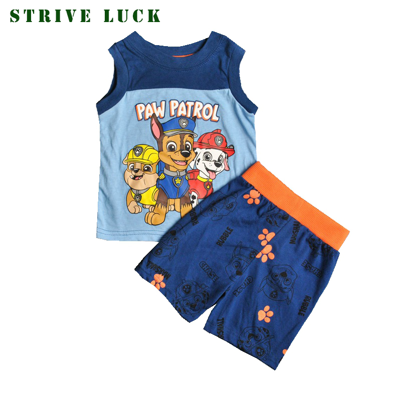 Kids clothing Sets Children Tracksuit for Boys Summer Patrol Cartoon toddler shirt 2pcs Sport Suits Baby clothes tops and shorts