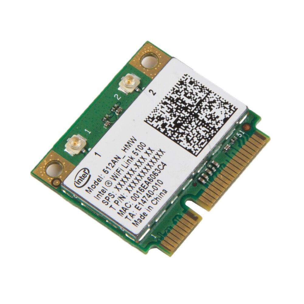 Dual band 300 Mbps Wireless Karte Für Intel Wifi 5100 512AN_HMW 802,11 a/g/n 300 mt Mini PCI-e Wlan Adapter Laptop Netzwerk 2,4g/5 ghz