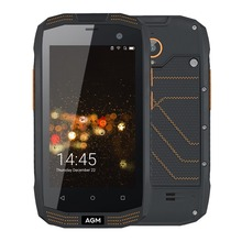 Оригинал AGM A2 IP68 Водонепроницаемый телефон 4.0 дюймов Qualcomm MSM8909 4 ядра 2 ГБ Оперативная память 16 ГБ Встроенная память 2600 мАч 8MP OTG LTE 4 г смартфон NFC