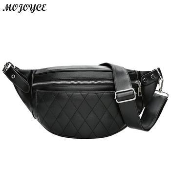 PU cuir hommes taille Pack Fanny Pack Bum ceinture sac sac banane à fermeture éclair solide poitrine sacs pour femmes pochette Pochetes Bolsas Feminina