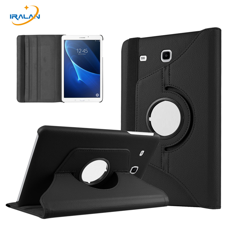 New 360 degree Rotating PU leather case For Samsung Galaxy Tab A 7.0 T280 T285 Tablet  7'' inch protective film + pen