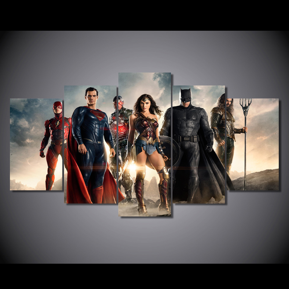 Online buy wholesale justice league posters from china for Room decor justice