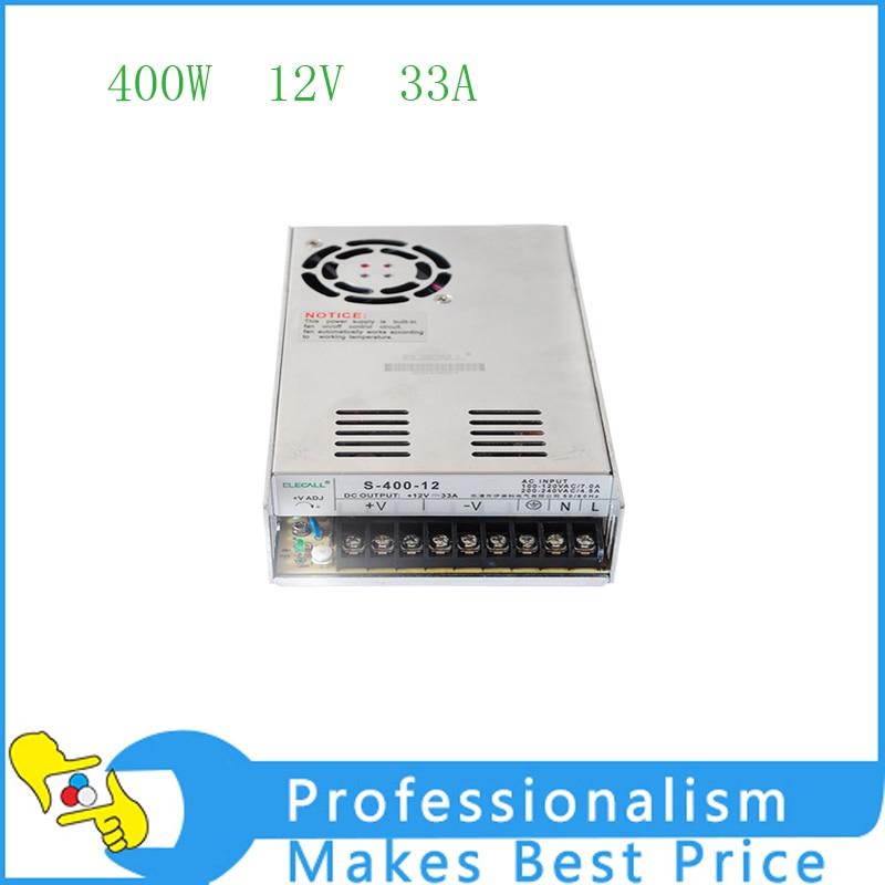 High quality 33A 400W Voltage Transformer AC 110V/220V to DC 12V Switch Power Supply for Led Strip ac 110v 220v to dc 5v 350w voltage transformer switch power supplies for led strip rainproof fy350w 5v