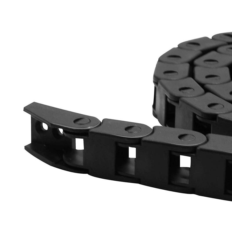7x15 мм пластиковая Трансмиссия Тяговая цепь L1000мм кабель Тяговая цепь проволочная переноска с концевыми соединителями для фрезерного станка с ЧПУ кабель
