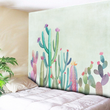Watercolor Cactus Tapestry Wall Hanging Bohemian Mandala Tapestrie Tropical Plant Art Cloth Home Decor Hippie