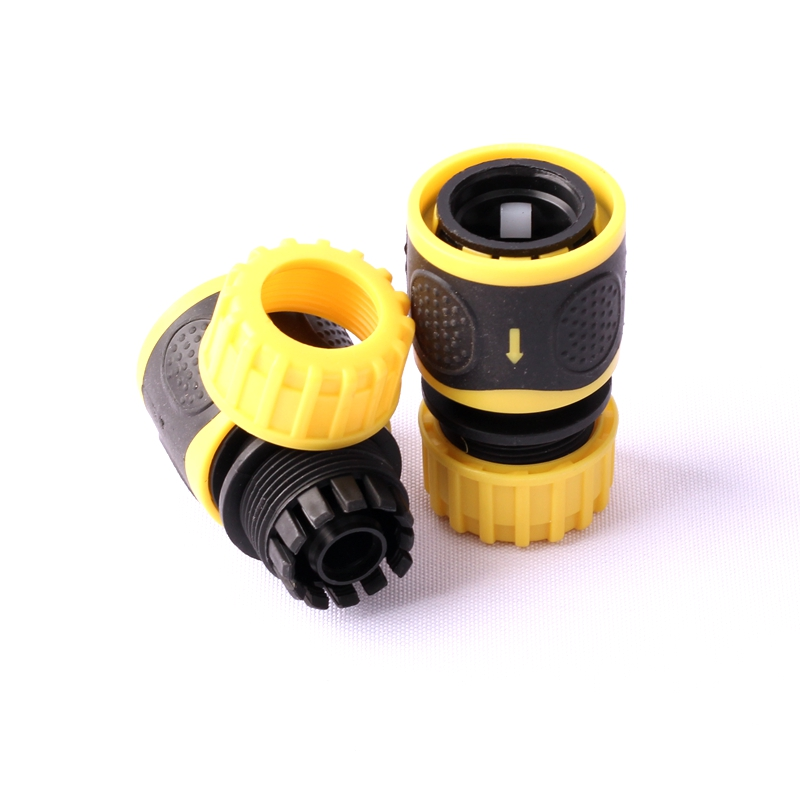 2pcs 1/2 Inch Hose Connector Car Wash Water Pipes Quick Connector Garden  Hose Connector