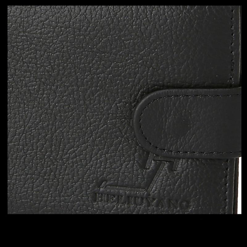 100% äkta läder plånböcker för män Korta Purse Cowhide Läder - Plånböcker - Foto 6