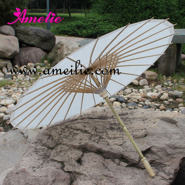 20pcs lot Party Wedding Bride White Paper Umbrella Parasol