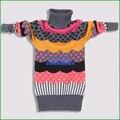 Новый 2016 осенью и зимой хлопок и шерсть футболка девушки свитер детская одежда детская одежда детей свитер ребенка свитер
