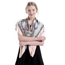 100X100cm Russian shawl large 100% twill silk square scarves for ladies elegant ethnic cashew in bulk travel scarf dress