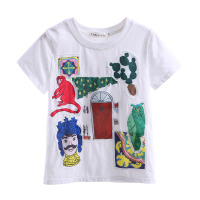 New Design Summer Style Cartoon Boys T-Shirt Print Boy Clothing BT90312-3L